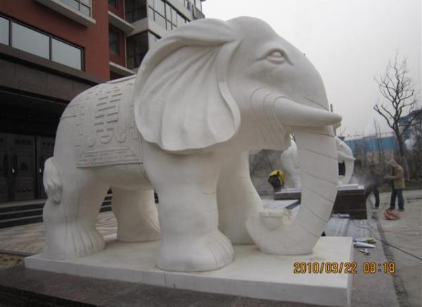 石雕动物_山羊雕塑(图片)