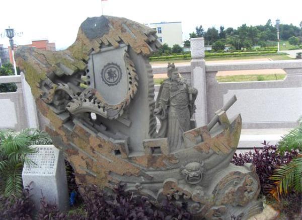 古代人物石雕_仙女塑像(图片)
