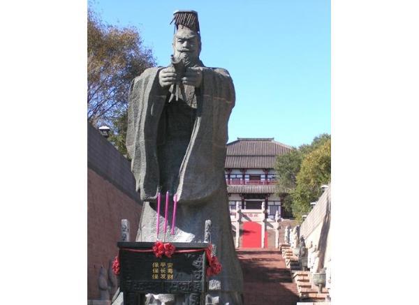 古代人物石雕_名人雕塑(图片)