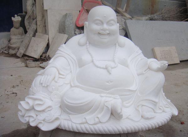 石雕弥勒佛_弥勒坐骑塑像(图片)