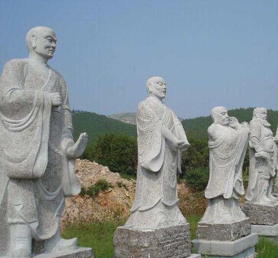 石雕十八罗汉_龙猛尊者(图片)
