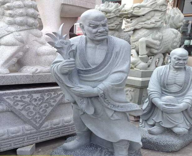 十八罗汉雕刻_散结尊者(图片)