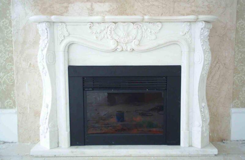 壁炉雕刻_经典白色壁炉(图片)
