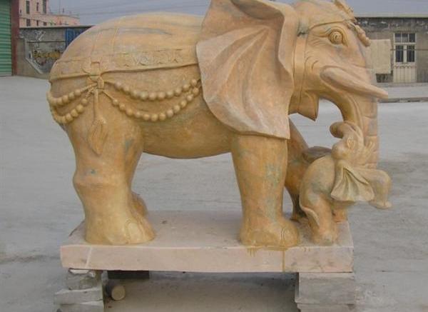 雕刻象_汉白玉大象(图片)