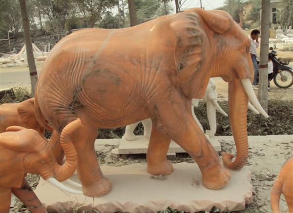 雕刻象_如意大象(图片)