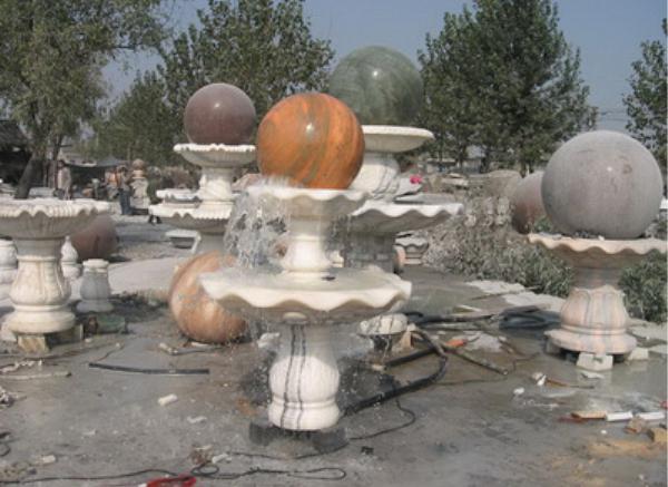 石雕风水球_公园风水球(图片)