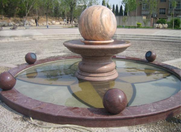 石雕风水球_花瓣形风水球(图片)