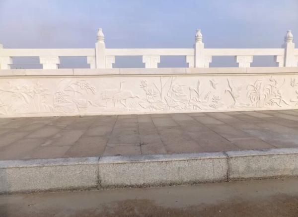石桥栏板_花枝雕塑栏板(图片)