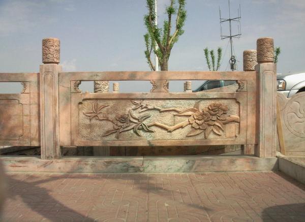 汉白玉栏杆_栏杆石雕(图片)