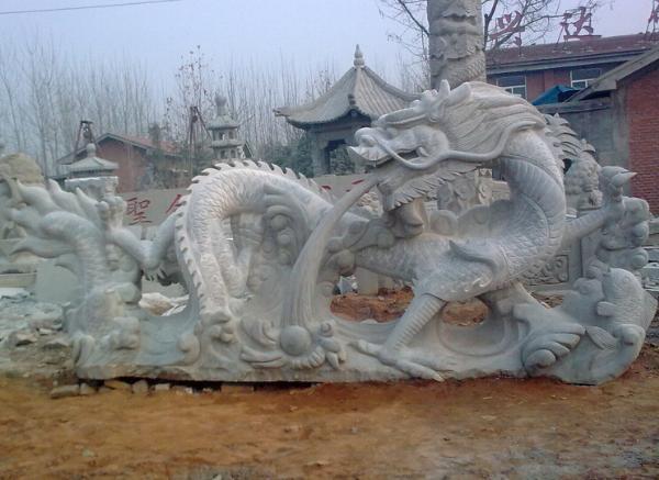 石雕龙_龙腾雕塑(图片)