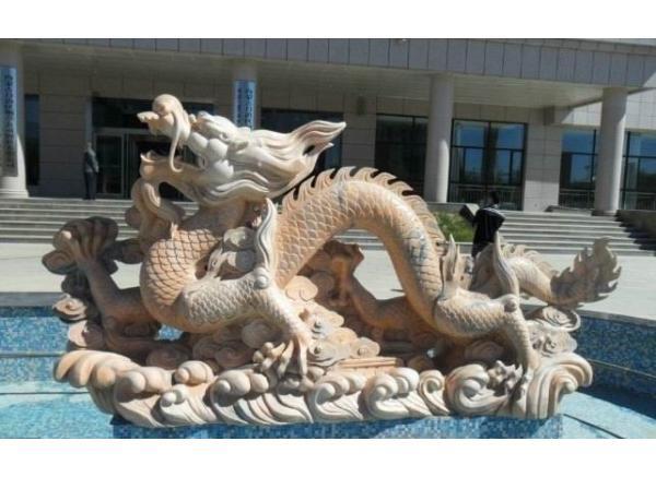 石龙工艺品厂_腾云龙塑像(图片)