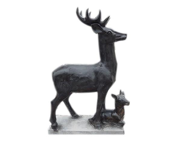 石鹿工艺品厂家_长颈鹿石雕(图片)