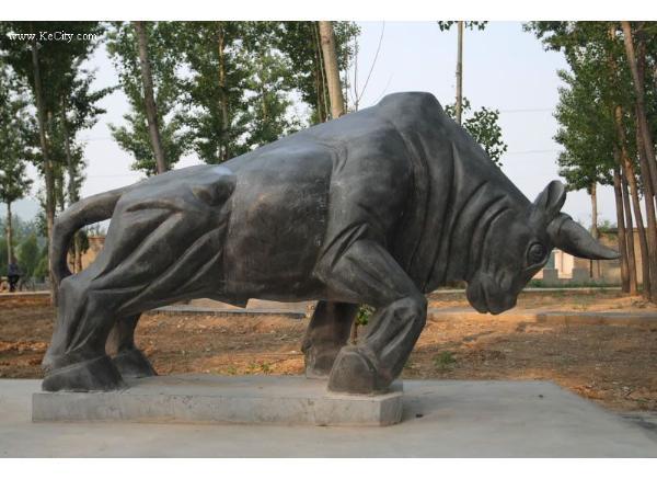 石牛工艺品厂家_汉白玉牛(图片)