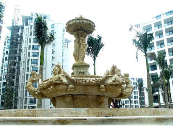 石雕喷泉_砂岩喷泉(图片)