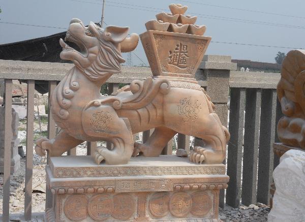 貔貅雕刻_貔貅狮子独角兽(图片)