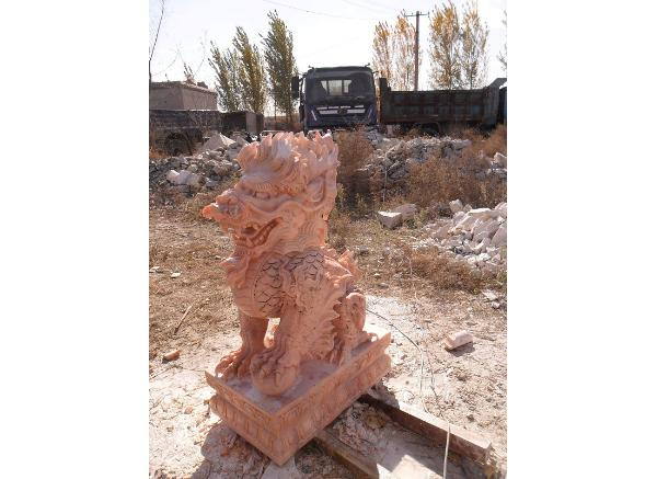 石雕麒麟_汉白玉雕麒麟(图片)