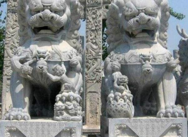 狮子雕刻_河东狮吼(图片)
