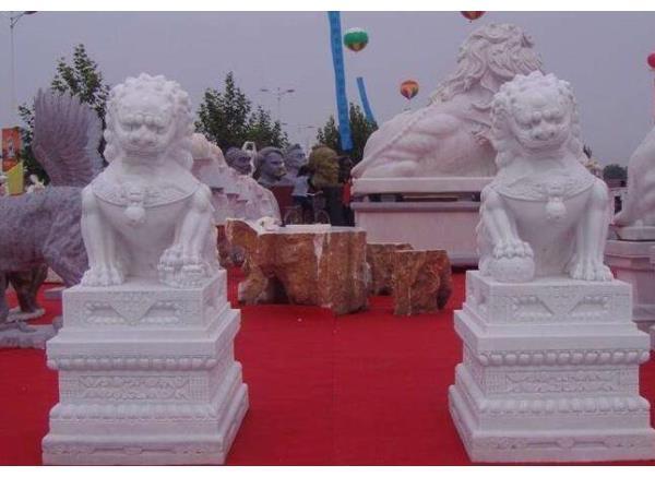 石雕狮子_大理石狮子(图片)