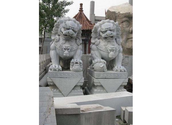 石狮_双狮石雕(图片)
