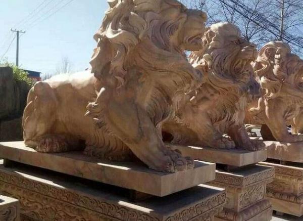 石狮子报价_汉白石狮子(图片)