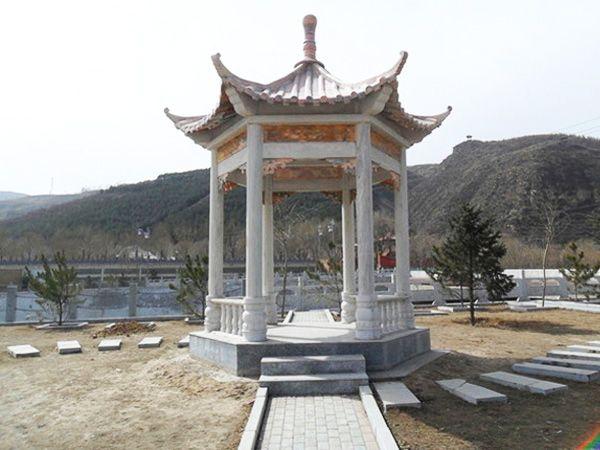 亭廊雕刻_天青石凉亭(图片)