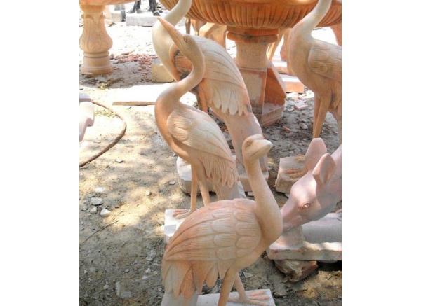 仙鹤雕刻工艺品厂家_汉白玉仙鹤(图片)