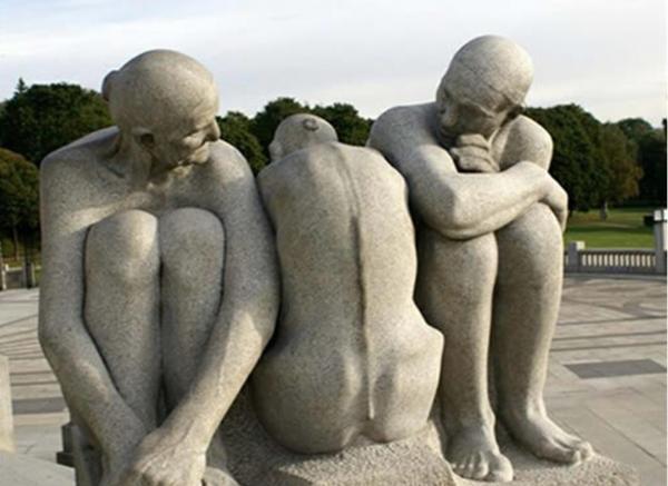 现代人物石雕_林黛玉塑像(图片)