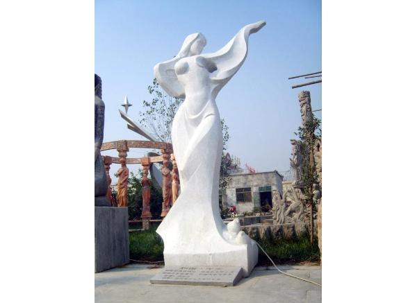 现代人物石雕_冼星海塑像(图片)