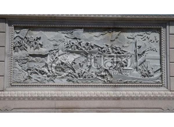 雕塑栏板安装现场(图片)